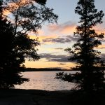 Lake of the Woods Sunset New Moon Lodge